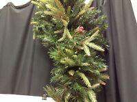 5' Frontgate Classic Christmas Dark Green Swag Mantel Door Tree Garland Teardrop