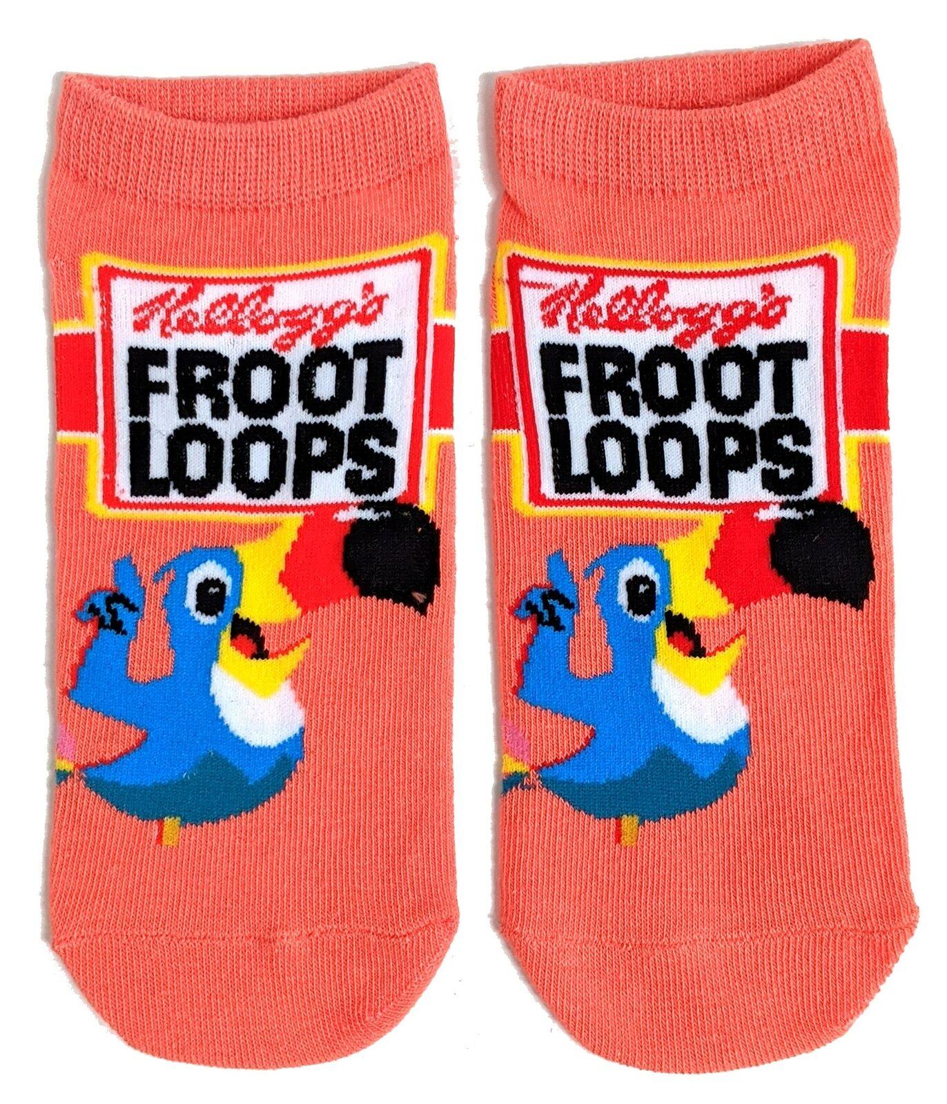 Damen Kelloggs Froot Loops Toucan Schuh-Liner Socken 37-42 Eur