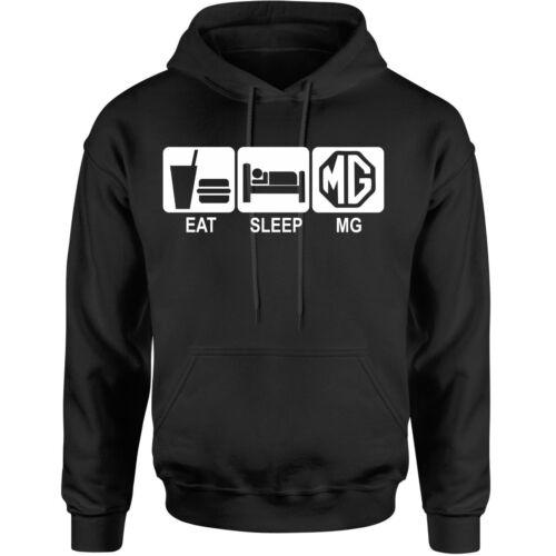 EAT SLEEP MG novelty hoodie birthday xmas gift adults kids unisex hoody MG car