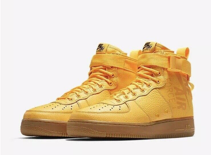 NIKE AIR FORCE SF AF1 MID 917753 801 Limited ODELL OBJ SIZE 10 YELLOW