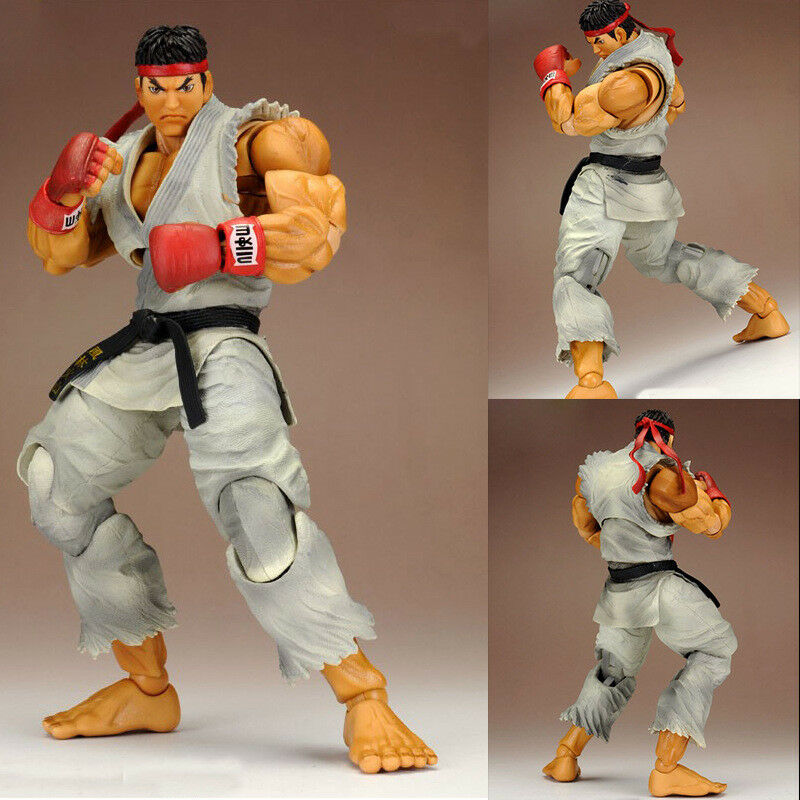 Street Fighter IV Ryu 9  Action Figure Statue w  Replaceable Heads & Hands Toy