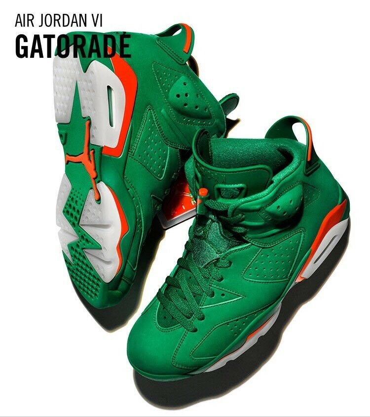"Nike Air Jordan 6 Retro "" NRG Gatorade Like Mike ""Authentic Deadstock Neu 43 EUR"