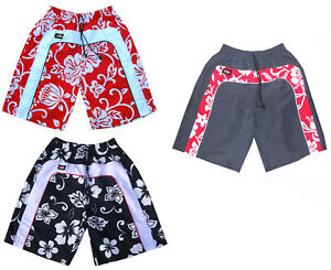 fdc08679e6 Mens Red Surf Skate Flower Swim Board Sport Swimming Designer Trunks ...