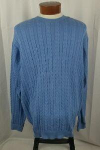 Izod-Men-039-s-Long-Sleeve-Crew-Neck-Sweater-Blue-100-Cotton-Large