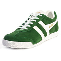 Gola Classics Harrier Mens Suede Green White Trainers