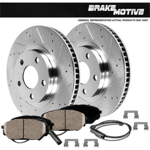 For 2006 BMW 330i E90 2WD Front 330 mm Brake Disc Rotors And Ceramic Pads