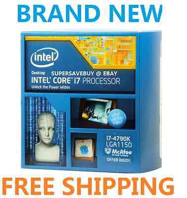 Intel Core i7-4790K 4.0GHz LGA 1150 Boxed Processor, Maximum boost clock 4.4 GHz