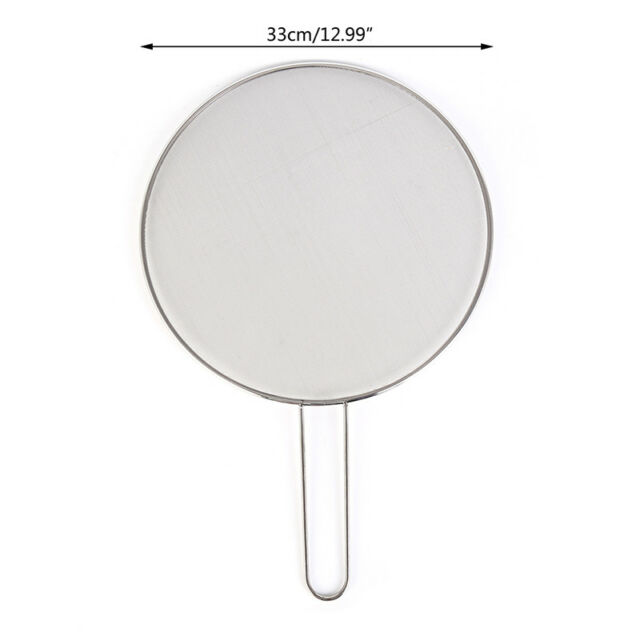 1X stainless steel cover lid oil proofing frying pan splatter screen spillPro Kw