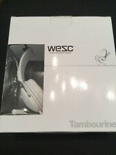 WESC TAMBOURINE PREMIUM in orecchio Cuffie Bianco Argento Iphone NUOVO di zecca in scatola