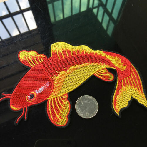 Japan Koi Fish Carp Sewing Craft Iron on Patch Embroidered Applique DIY Badage