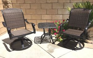 Outdoor-bistro-set-3-piece-patio-cast-aluminum-swivel-rocker-chairs-end-table