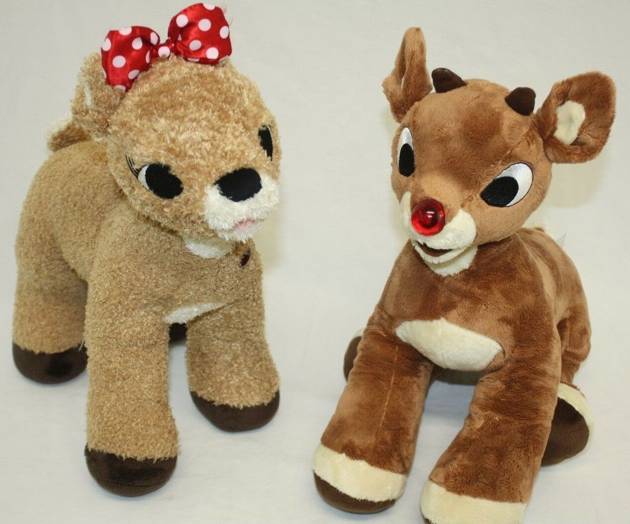Build a Bear Rudolph The rot Nose Reindeer Lot 2 Plush Stuffed Animals Toys