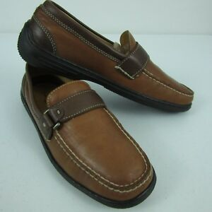 ac0782871788 Tommy Bahama Leather Slip On Loafers TB 326 Brandy Brown Espresso ...
