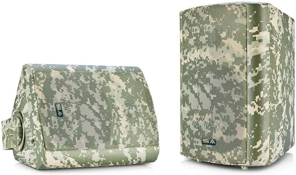 """Sound Appeal 5.25"""" Bluetooth Indoor/Outdoor Weatherproof Patio Speakers - Camo   Ebay"""