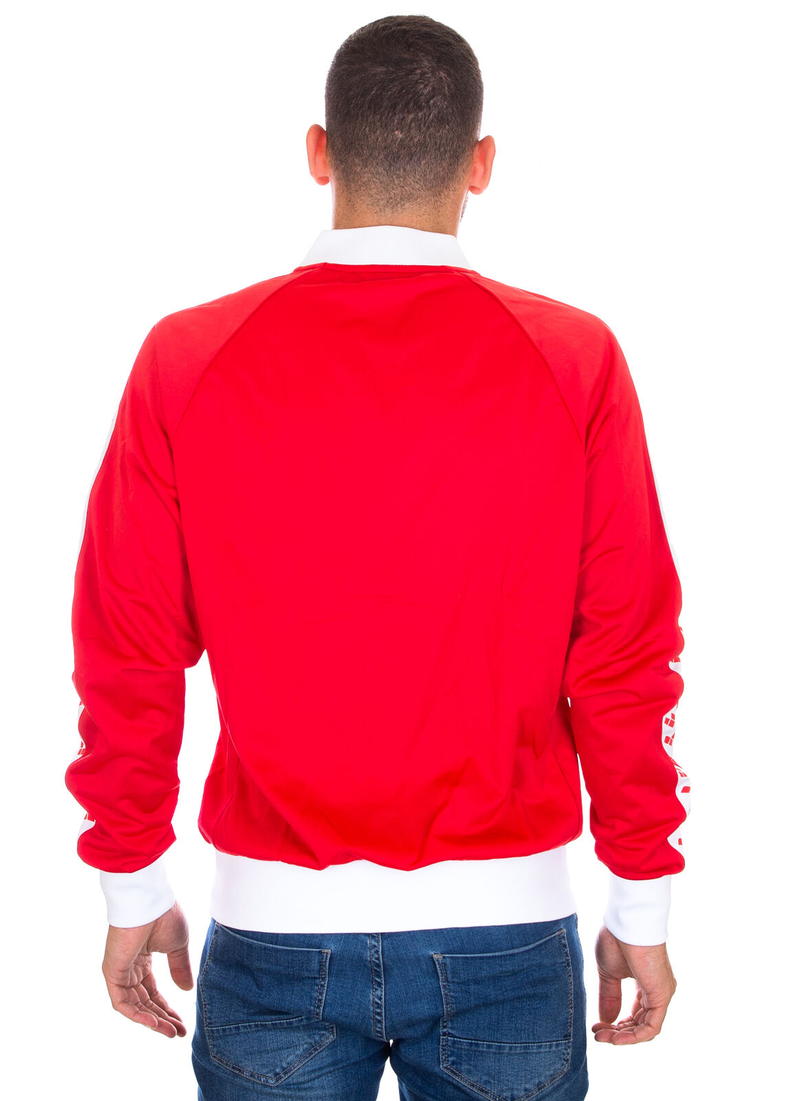 ARENA - GIACCA ZIP UOMO - ICONS RELAX IV TEAM JACKET - 001229401 - RED/WHITE