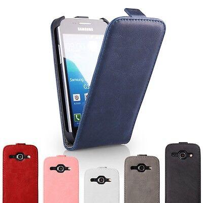 Schutz Hülle Touch Cover für Samsung Klapp Tasche Flip Case Transparent Silikon