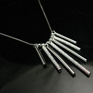ASAMO-Damen-Halskette-mit-Staebchen-925-Sterling-Silber-plattiert-HA1094