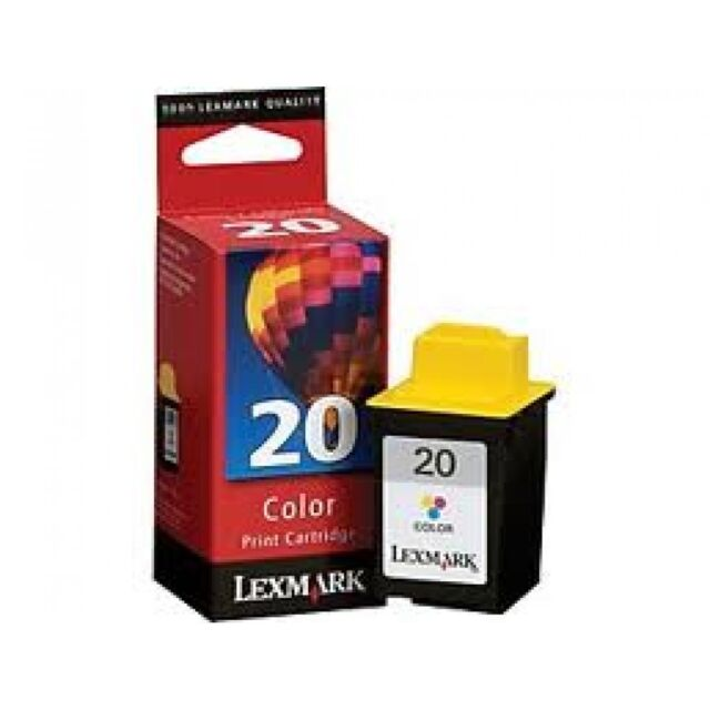 Original Lexmark 20 Tinte dreifarbig 15M0120 Z42 Z51 P3120 704 706 707 A-Ware