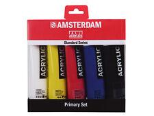 Amsterdam Acrylic Colour Paint Set - 5 x 120ml Tubes - Primary Colour Set