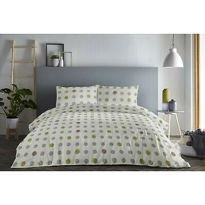Fusion Spots Easy Care Duvet/Quilt Cover Bedding Set Ochre/Blush