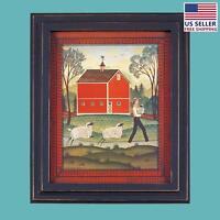 Framed Print Red Wood Sheep 25 1/8 X 21 1/8 Wall Art | Renovator's Supply