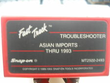 Snap On Mt2500 Mtg2500 Scanner 1993 Asian Imports Troubleshooter Cartridge