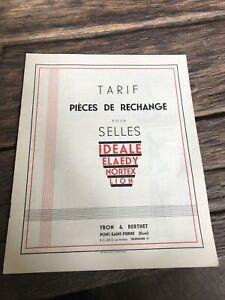 Rare Catalogue Selle Velo Ideale Collection Vintage Pièce De Bicyclette