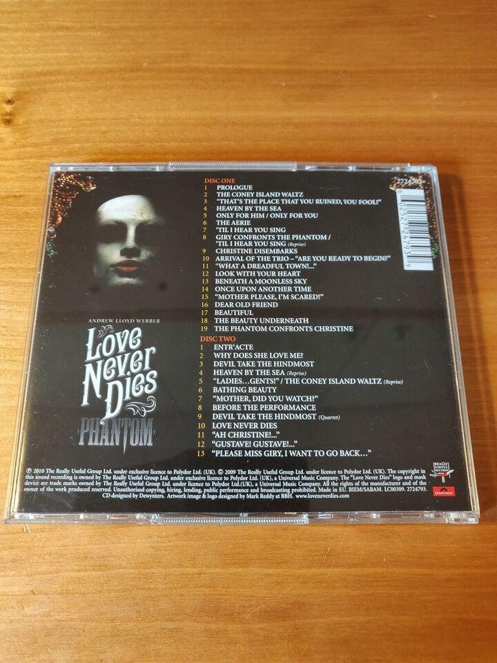 Andrew Lloyd Webber: Love Nerver Dies, andet