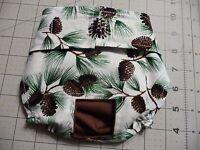 Brown Pinecones Female Dog Diaper Panty Adjust Elastic Carols Crate Covers