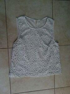 lotto-529-Top-T-shirt-canotta-canottiera-donna-con-fodera-My-Star-Tg-L