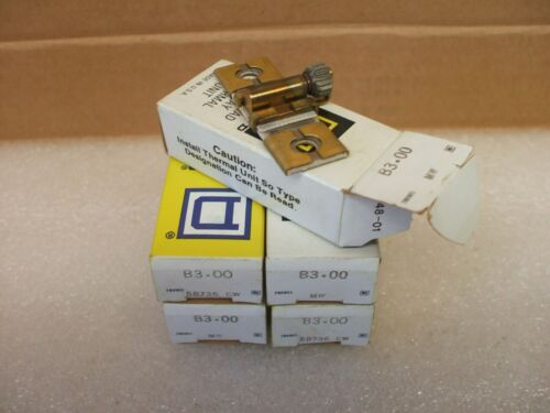 Lot Of 5 OVERLOAD RELAY THERMAL UNIT NEW IN BOX SQUARE D B3.00 HEATER