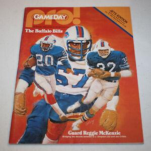 Buffalo Bills Game Day Program Book October 18 1981 Reggie Mckenzie Ebay