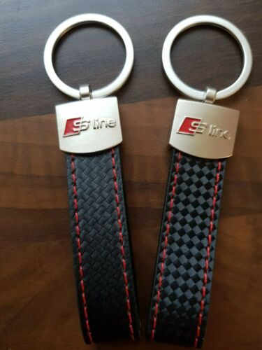 2 X 2019 Audi S line Car Keyring A1 A2 A3 A4 A5 A6 S3 S5 TT Q3 Q5 Q7 RS