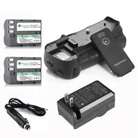 MB-D10 Battery Grip + 2x EN-EL3E Batteries + Charger For Nikon D300 D700 +Remote