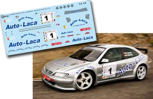 C132 Decal 1:43 Daniel Sordo CITROEN XSARA KIT CAR Rally Isla de Tenerife 2013