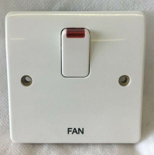 MK K5423 DP /'FAN/' Isolator Switch K5423 WHI White Neon Landlord DIY Electrical