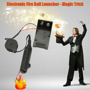 Electronic Fire Ball Launcher Magic Trick Props Accessories Stage Illusion Top