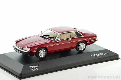 Jaguar XJ-S Baujahr 1982 dunkelrot dark red  1:43 WHITEBOX IXO WB 288 NEU