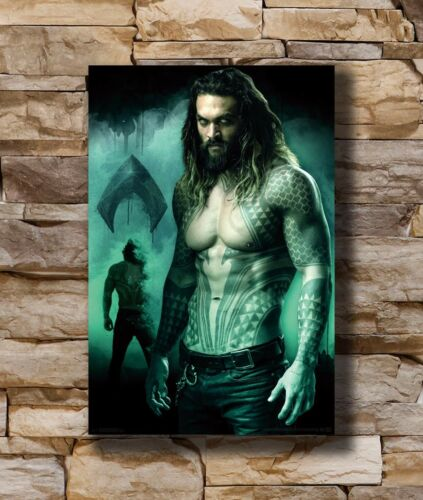 Hot Aquaman 2018 USA DC Movie Superhero New Art Poster 40 12x18 24x36 T-3128