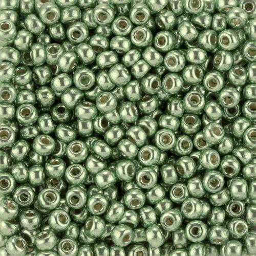 Miyuki Size 6 Round Beads 6-4214 Duracoat Galvanised Dark Mint Green 20g J92//5