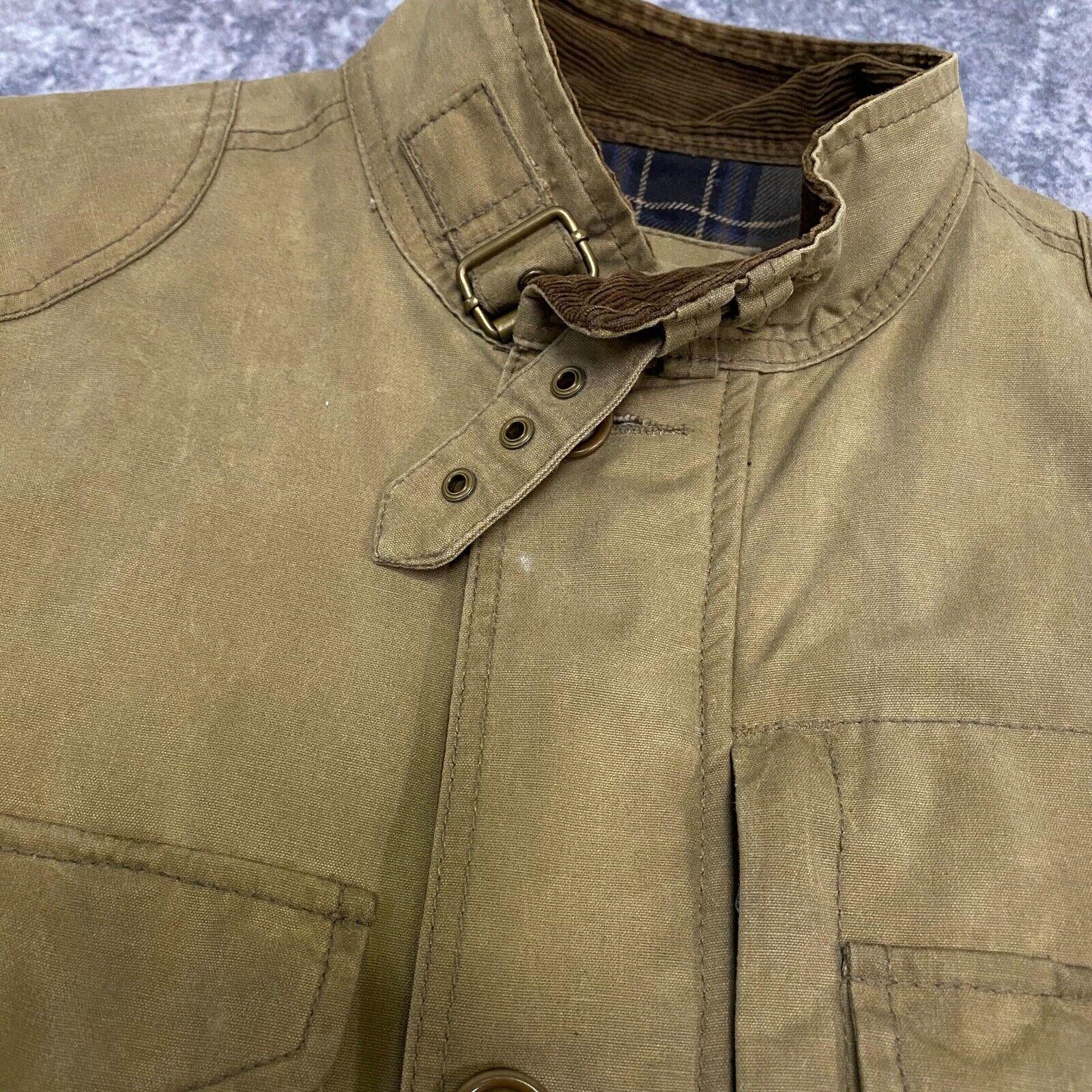 J.Crew Field Jacket Size XS Brown Wax Distressed - image 11