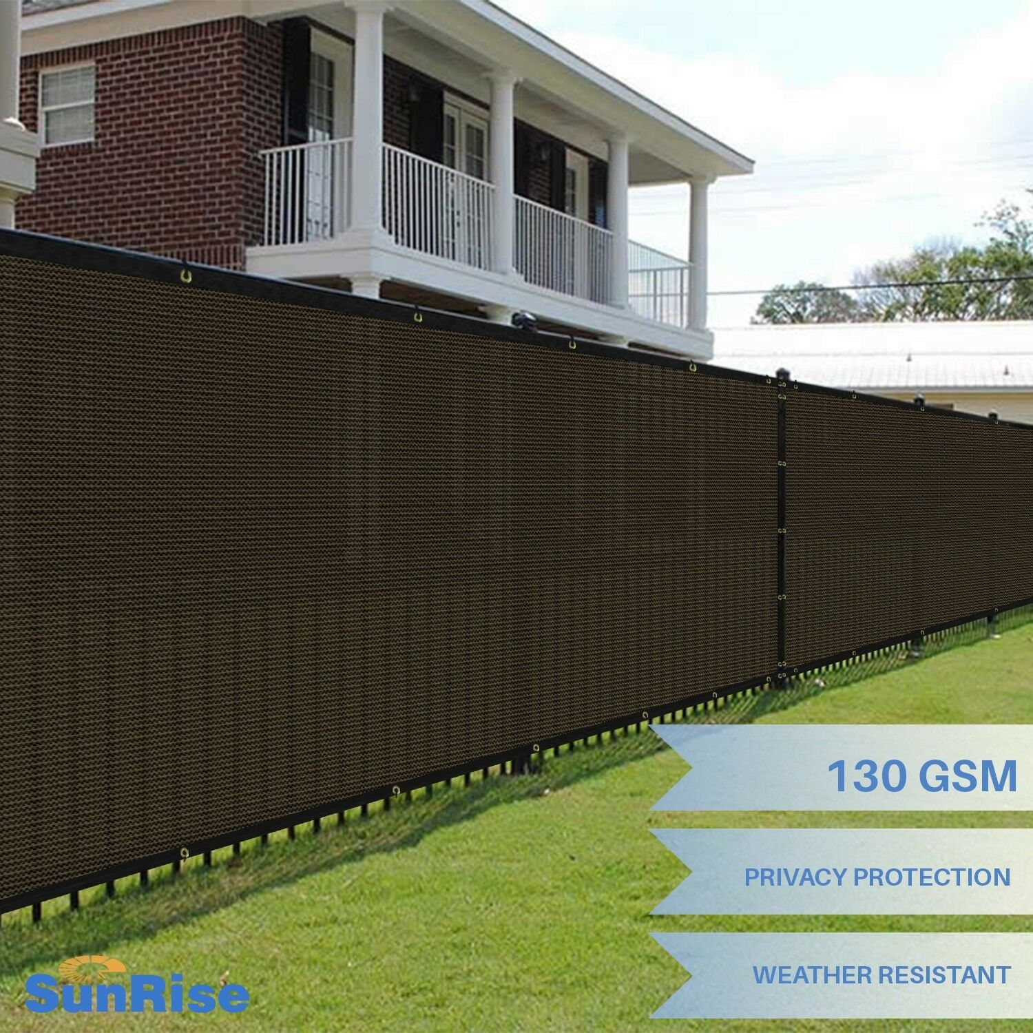 Customize 5' FT Tall Brown Privacy Screen Fence Windscreen