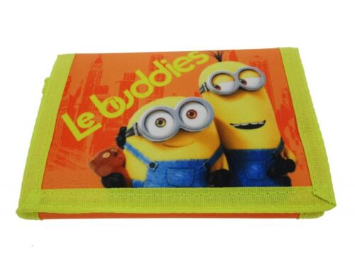 MinionsLe Buddies Childrens Tri-Fold WalletPurse with Coin Zip Compartment