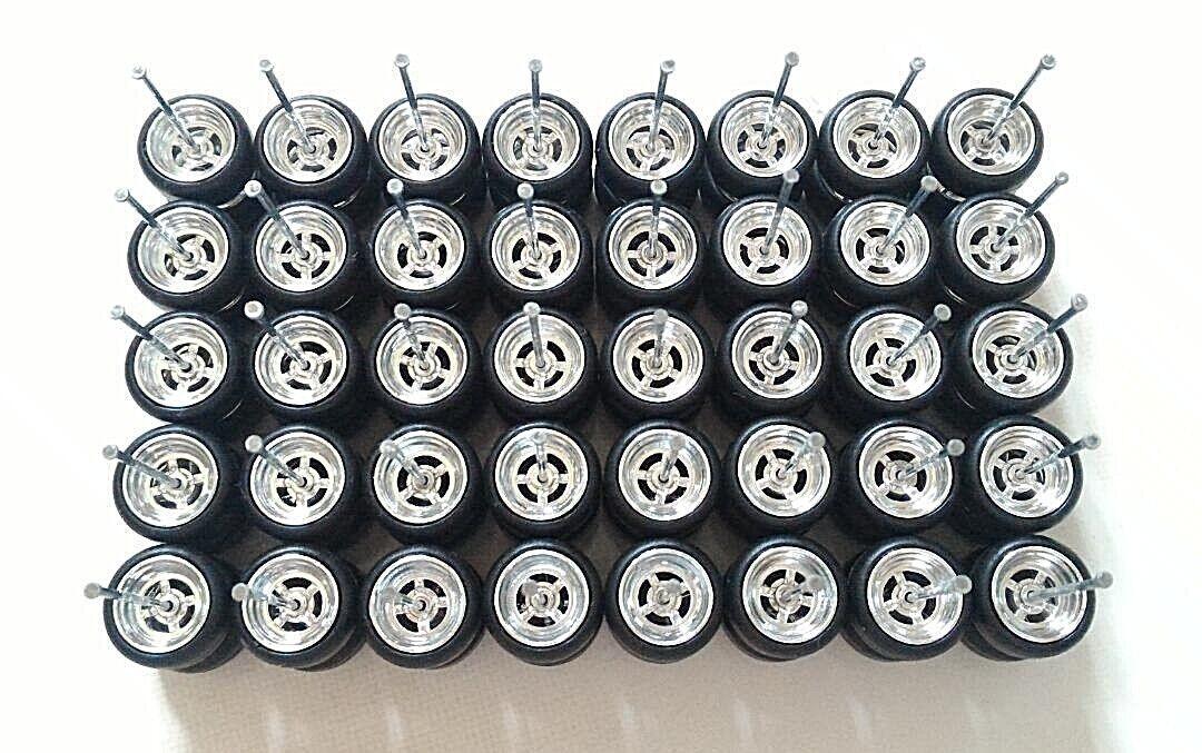 Hot Wheels Cromo 4 habló Donut Eje Largo 1 64 neumático de goma 20 Juegos (2019)
