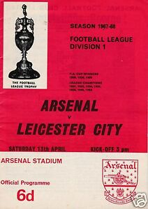 ARSENAL V  LEICESTER CITY  1ST DIVISION 13468 - Bromley, United Kingdom - ARSENAL V  LEICESTER CITY  1ST DIVISION 13468 - Bromley, United Kingdom