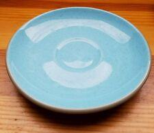 "HARKERWARE Blue Mist 6""  Saucer Blue Gray Speckled Vintage Stone China"