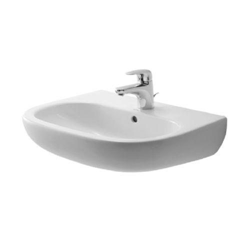 Duravit D-Code Waschtisch Waschbecken 55, 60 oder 65 cm optional mit Halbsäule