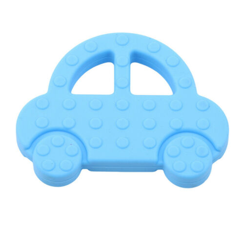 Small Bright Coloured Car Food Grade Silicone Newborn Baby Teether Chew Toy LH
