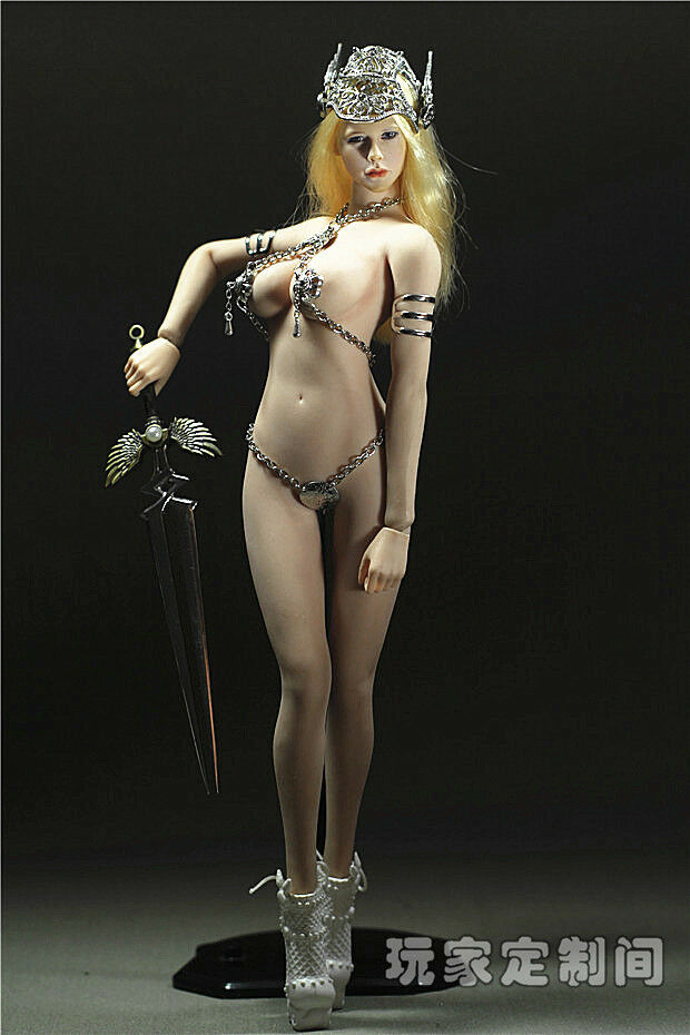 Phicen 1 6 Scale God of War Female Sexy Metal Clothes Set F12  Large Bust Figure