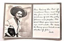 RPPC Real Photo KODAK GIRL Kate Elyria OH Store Postcard Camera AD